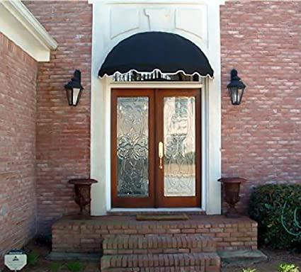 Dome Style Window Awning or Door Canopy 4\u0027 Wide in Sunbrella Awning Fabric - Black & Amazon.com: Dome Style Window Awning or Door Canopy 4\u0027 Wide in ...