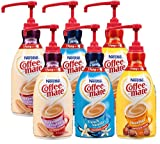 Coffee Mate Liquid Concentrate 1.5 Liter Pump Bottle - Variety 3 Pack - Original Sweetened Cream, French Vanilla & Hazelnut - 2 COUNT