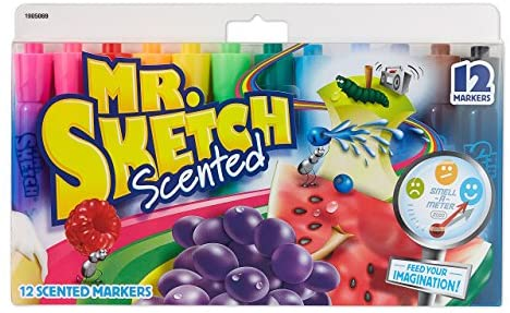 [Amazon.ca] Mr. Sketch Scented Markers, 12 Pack, Assorted Colours – $4.98