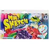 Mr. Sketch Scented Markers, Chisel Tip, Assorted Colors, 12 Pack