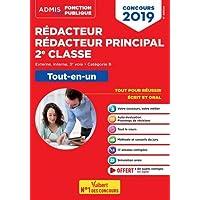 Concours Rédacteur et Rédacteur principal territorial Catégorie B - Tout-en-un - Externe, interne, 3e voie Admis 2019