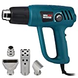 NEU MASTER N2000-US 1500W Heat Gun Kit with Variable Temperature Control 120°F-1100°F with Overload Protection Four Nozzle Attachments for Stripping Paint, Bending Pipes, Lighting BBQ