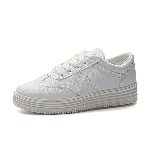 22e40be7aee9bb Chaussure de Travail en Cuir Souple à Semelles Compensées pour Homme a  Lacet Basse Plate Chaussure
