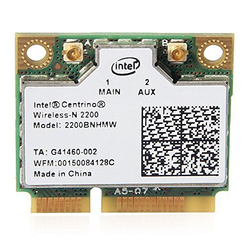 Intel Centrino Wireless-N 2200 2200BNHMW 802.11b/g/n, 300 Mbps 2x2, Single-band Wi-Fi Card