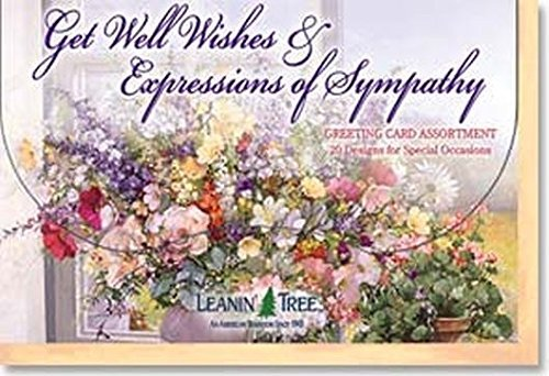Cards Get Wishes Well (Get Well Wishes & Expressions of Sympathy - [AST90663] Leanin' Tree Greeting Card Assortment - 20 cards with full-color interiors and 22 designed envelopes)