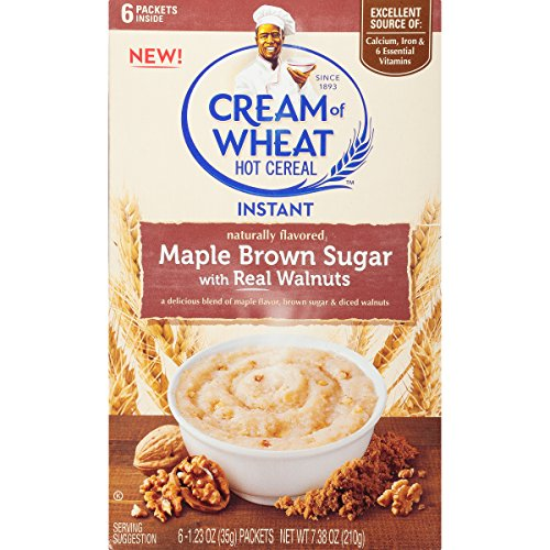 (Cream of Wheat, Instant Hot Cereal, Maple Brown Sugar with Real Walnuts, 6 Count (Pack of 12))