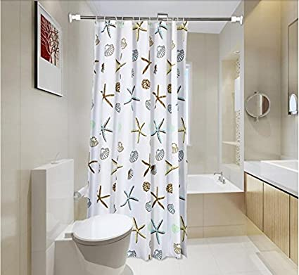 Amazon White Bathroom Shower Curtain Peva Partition