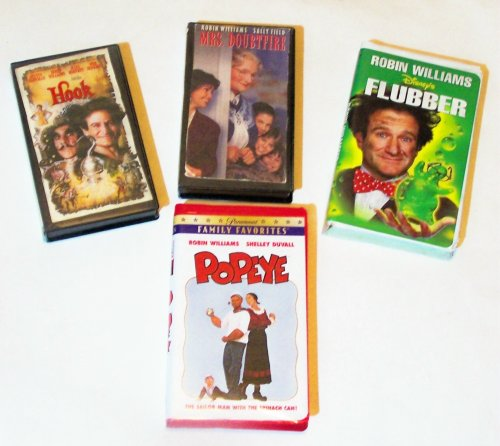 Robin Williams Video Collection 4-pk: Hook, Flubber, Mrs. Doughtfire, Popeye