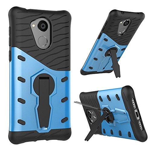 SRY-Conjuntos de teléfonos móviles de Huawei Desmontable montar doble correa cinturón fresco caso de la cubierta del teléfono de la cubierta para Huawei Hornor 6c Proteja completamente el teléfono ( C Blue