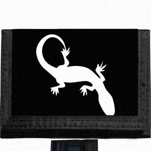 Gecko lizard Black TriFold Nylon Wallet Great Gift Idea