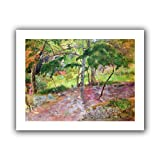 Paul Gauguin 'Tropical Landscape, Martinique' unwrapped canvas A high quality print reproduction of an oil on canvas. This landscape painting is a depiction of the kind of wildlife you might expect to find in Martinique. There are goats, cows and bir...