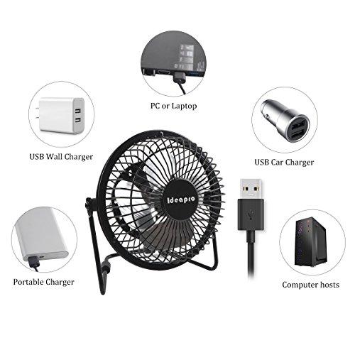 70%OFF Ideapro Mini USB Desk Personal Fan, Small 6 inch 4