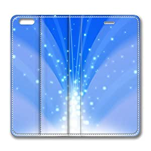 Case For Iphone 4/4S Coverinch Leather CaCascade Of Magic Powder Light Blue Fashion Luxury Protective Slim Fit Skin Leather Cover Case For Iphone 4/4S Cover [Stand Feature] [Slfit] Flip Leather for New Case For Iphone 4/4S Cover