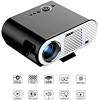 Video Projector , MTFY Portable 3200 Lumens LED Multimedia Player for Home Theater Movie Support Laptop / TV Game 1080p HD Black