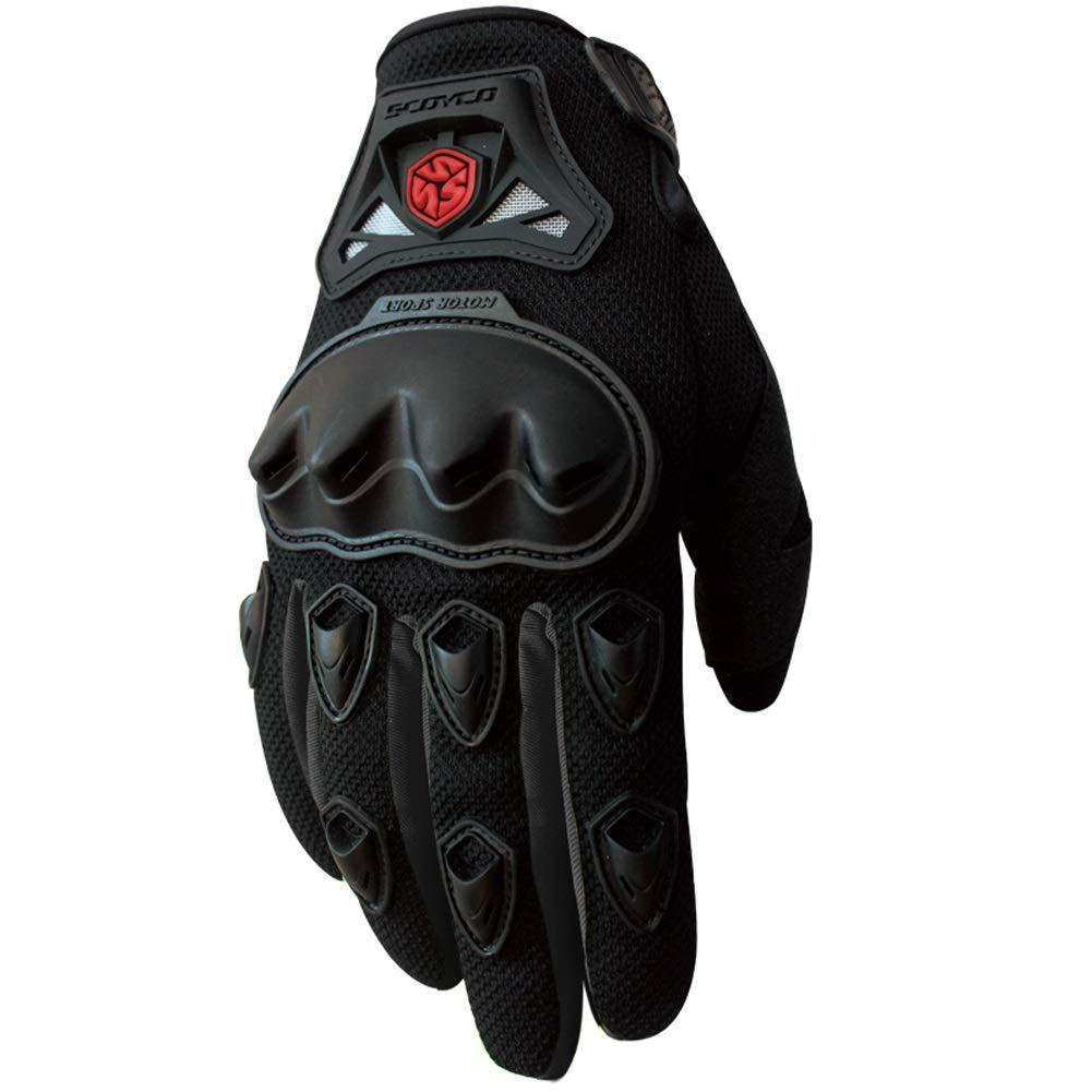 AINIYF Full Finger Motorcycle Gloves   Summer Men's Drop-Off Tactical Gloves Electric Car Racing Off-Road (Color : Black, Size : M)