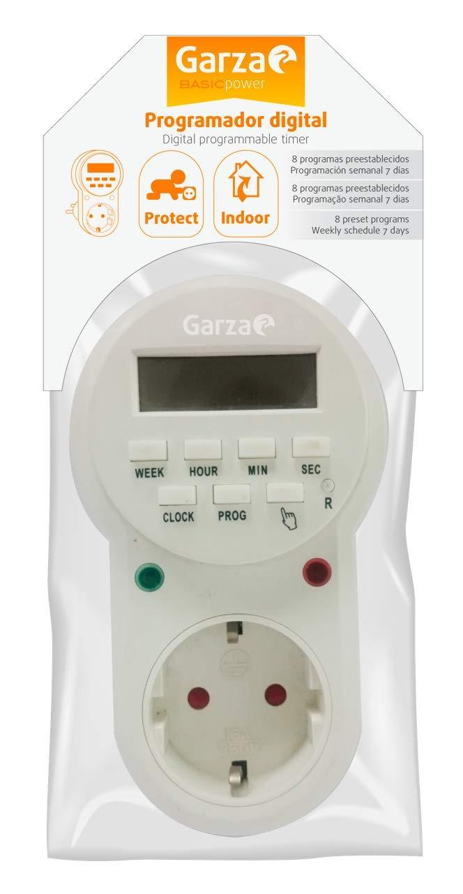 Garza 400602 Power - Temporizador digital, 8 programas, 24 horas