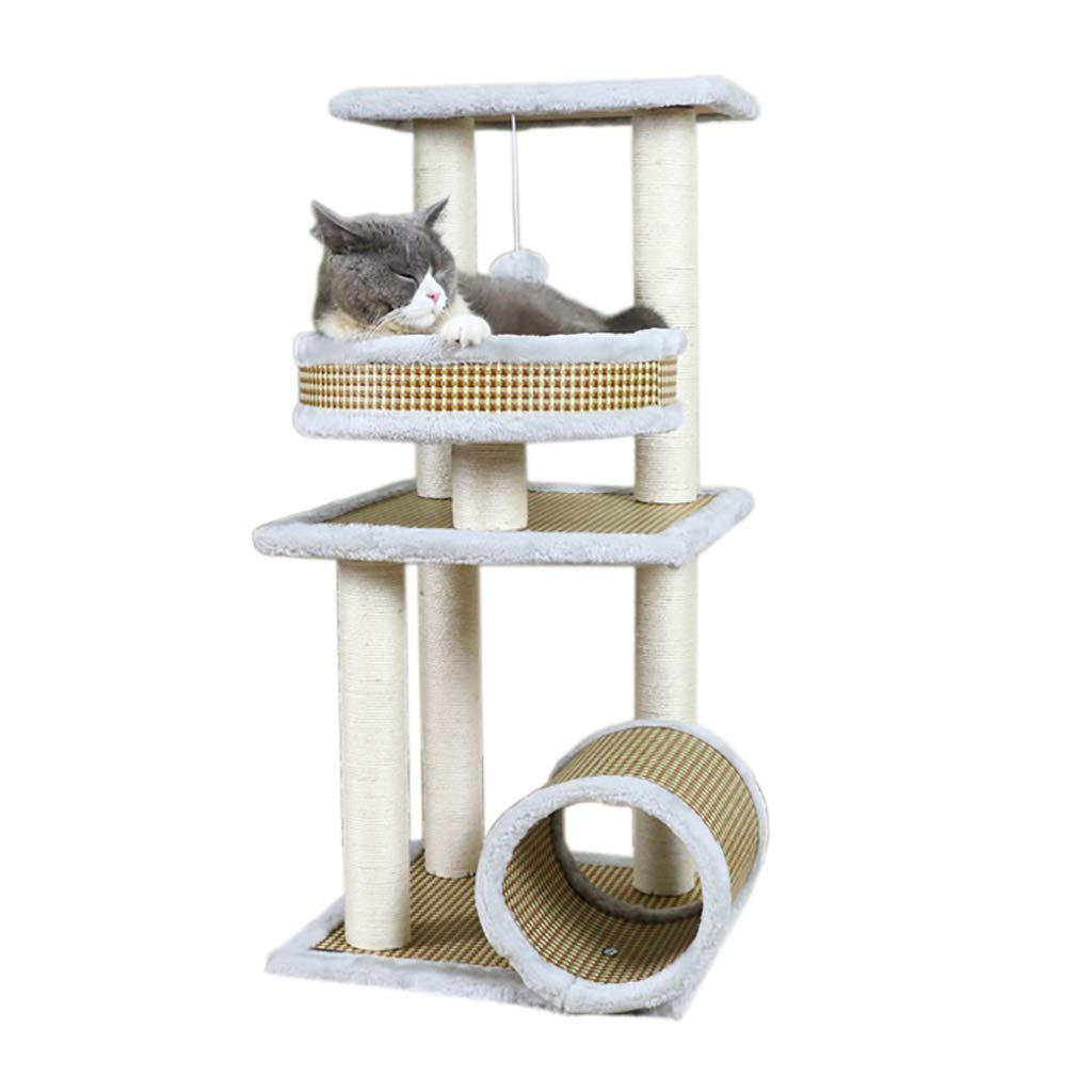 Multi-Layer cat Climbing Frame Cat Rack Climbing Frame Cat nest Cat Tree Big cat Jumping Platform Pet House Wooden Toy