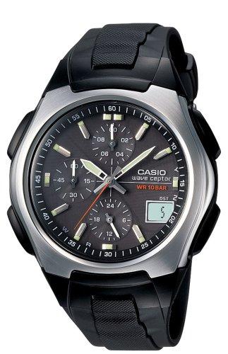 : Casio Men's WVQ400J-1 Waveceptor Atomic Dual-Time Watch