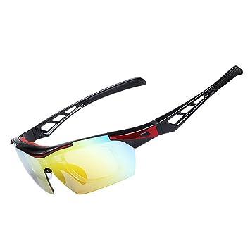 OBAOLAY Deportes Gafas de Sol Polarizadas Anti-UV Gafas Ciclismo con 5 Lentes Intercambiables: Amazon.es: Deportes y aire libre