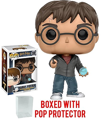 Funko Pop! Movies: Harry Potter - Harry Potter with Prophecy Vinyl Figure (Bundled with Pop BOX PROTECTOR CASE)