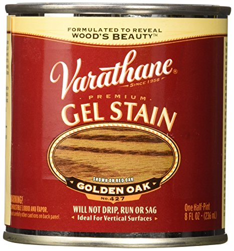 Varathane 224497 Premium Gel Stain, Half Pint, Golden Oak ()