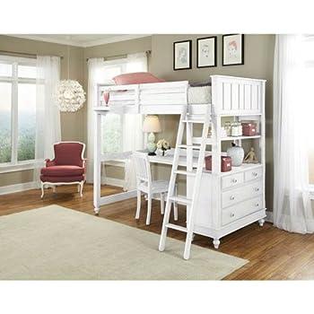 Amazon Com Ne Kids Lake House Twin Loft Bed With Desk In