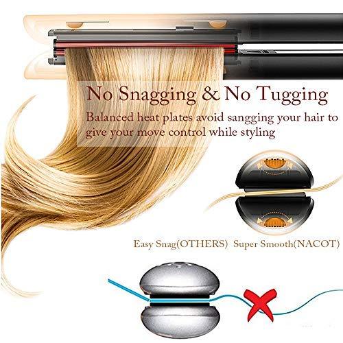Glätteisen Glätten und Locken 2 in 1 Haarglätter Einstellbare Temperatur Profi Salon Ionen 3D Keramik Schwimmplatten zum Glätten und Styling Locken alle Haartypen
