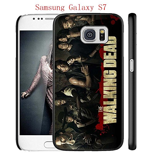 Samsung Galaxy S7 Case, The TV Series The Walking Dead 44 Drop Protection Never Fade Anti Slip Scratchproof Black Hard Plastic Case