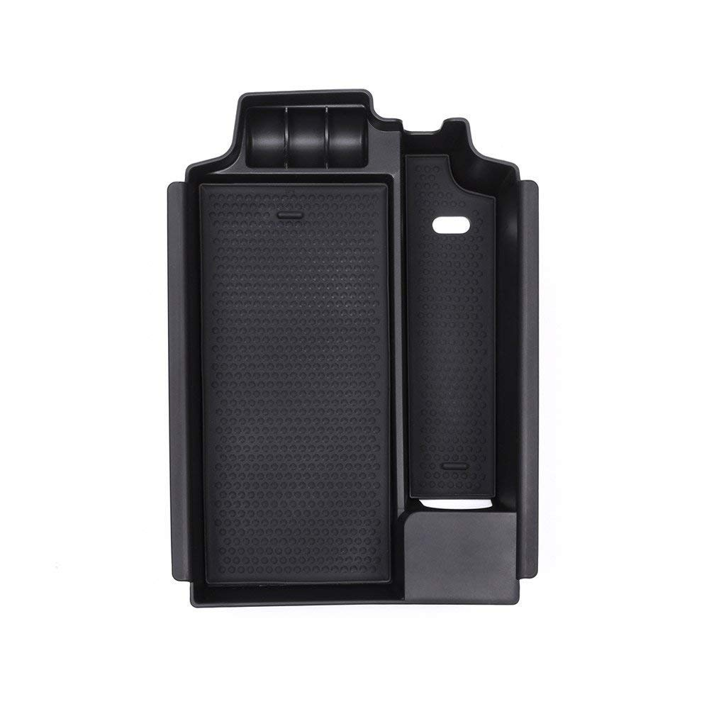 Plastic Car Interior Armrest Storage Box Console Central Container Phone Glove Tray Holder for BMW New 5 Series G30 2017 2018 Black Autobro