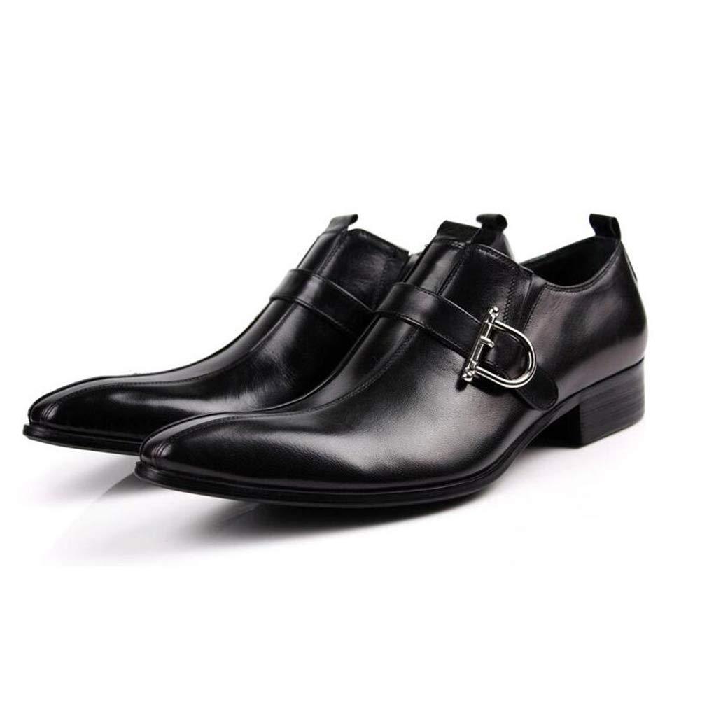 Hy Herren Lederschuhe, Herbst-Winter wies Persönlichkeit Formale Schuhe, Müßiggänger und Faule Slip-Ons Faule und Schuhe Komfort Driving Schuhe (Farbe   Braun, Größe   39) ded0af