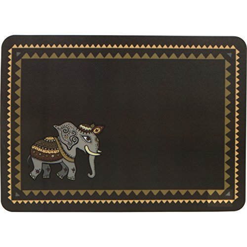 Planet Ethnic Asian Elephant Designer Polypropylene Place mats Tablemats Set (6 placemats, 15.75 X 11.4 inches each) (Asian Placemat Set)