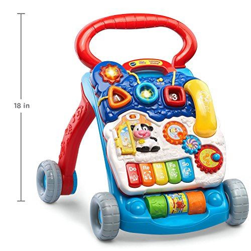 51fSvHG8F9L - VTech Sit-to-Stand Learning Walker, Blue (Amazon Exclusive)