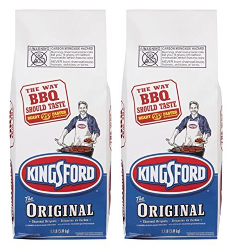 Kingsford Original Charcoal Briquettes, 7.7 Pound Bag (Pack of 2)