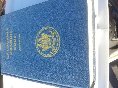 FREEMASON SQUARE & COMPASS 1956 California MASONIC Code OF Grand (Lodge Airport)