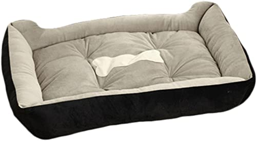 Topbeu Rectangle Warm Pet Bed Dog Bed Dog Cushion Cat Bed for Dogs Cats Pet Supplies