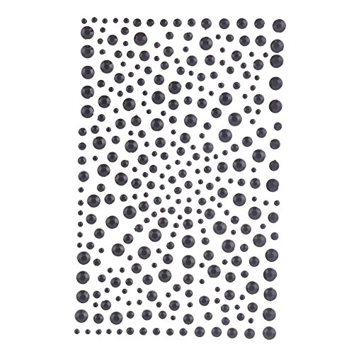 Decora 325 Black Diamante Stick on Rhinestone Stickers Gems Cards and Self Adhesive Craft Bling