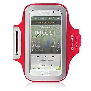 Brazalete deportivo reflectante para Samsung Galaxy S6 - rojo