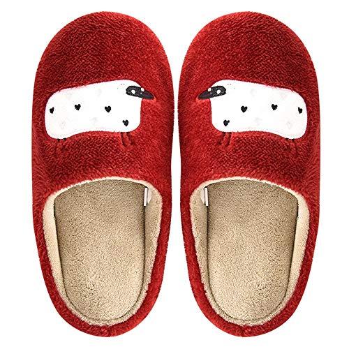 Con Coppia Morbido Uomo Rosso Cartone Legno Fondo Animato Calde Antiscivolo In Cotone Pantofole Per Donna Pavimento E Home Interni Scarpe Simpatico OfqdPxAnwO