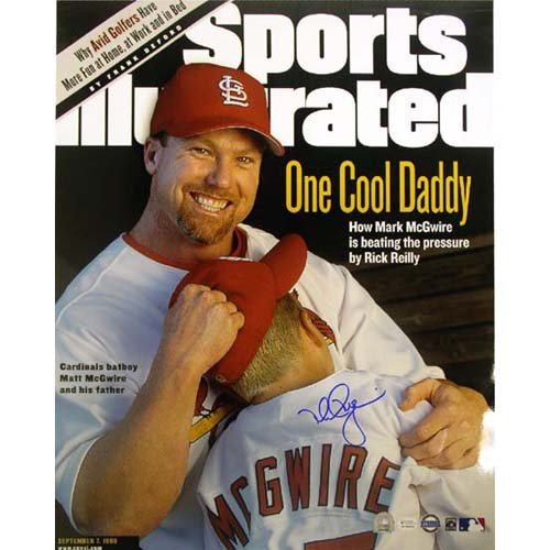 Steiner Sports MLB Saint Louis Cardinals Mark McGwire SI Cover withSon (16 x 20-inch)