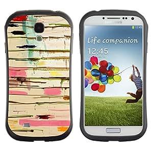 """Hypernova Slim Fit Dual Barniz Protector Caso Case Funda Para SAMSUNG Galaxy S4 IV / i9500 / i9515 / i9505G / SGH-i337 [Resumen de pintura de goteo Arte Pollock Líneas""""]"""