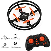 GEEDIAR DW1 Mini Quadcopter Drone Anti-skidding Space Trek UFO Design Headless Mode Drone Toy with 3D Flips and Rolls, One Key Return