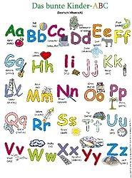 Das bunte Kinder-ABC. Poster: Deutsch /Albanisch