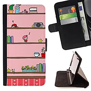 Jordan Colourful Shop - camera music kids cartoon drawing pink For Apple Iphone 6 - Leather Case Absorci???¡¯???€????€???????&bdquo