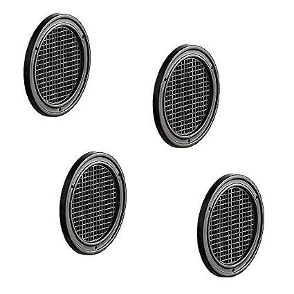 Lot de 4–-Grille Grille de ventilation ronde pour meubles Grille d'aspiration pour meubles & camping-car | Grille d'aération Marron Ø 60mm–porte Grille en plastique GedoTec®