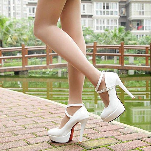 black mujer Zapatos ZHZNVX Correa ultra correa delgado cabeza y solo de zapatos de sexy con redonda ZFFEdqw