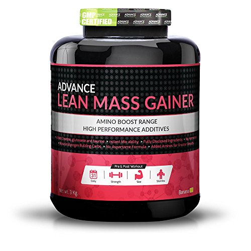 Lean Mass Gainer 3Kg (6.6LBS) BANANA weight gainer for men & women by ADVANCE NUTRATECH