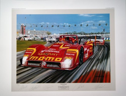 morettis-triumph-racing-print-autographed-by-moretti-luyendyk-baldi-and-theys