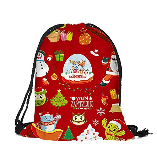 ✈ HYIRI Merry Christmas Bags Backpack Candy Gift Bag Bundle Pocket