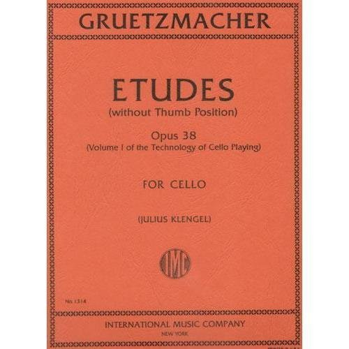Grutzmacher Friedrich Etudes Op38 without thumb position Technology of Cello Playing Julius Klengel