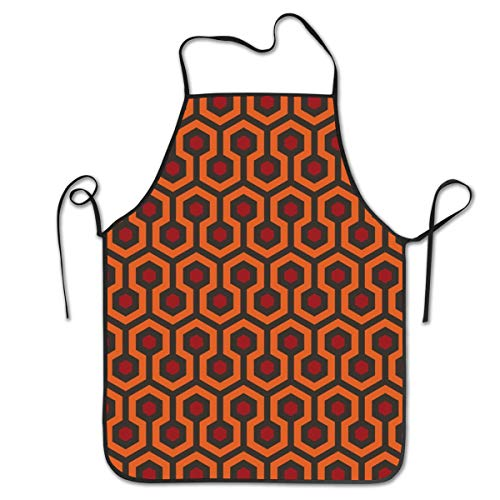 - ONUPMIN Adjustable Bib Apron with Extra Long Ties for Women Men Chef Kitchen Home Restaurant Cafe Cooking Baking Gardening (Shining Overlook Hotel)
